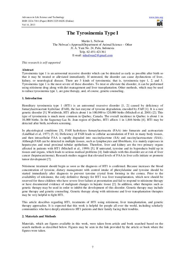 Advances in Life Science and Technology ISSN 2224-7181 (Paper) ISSN 2225-062X (Online) Vol 14, 2013  www.iiste.org  The Ty...