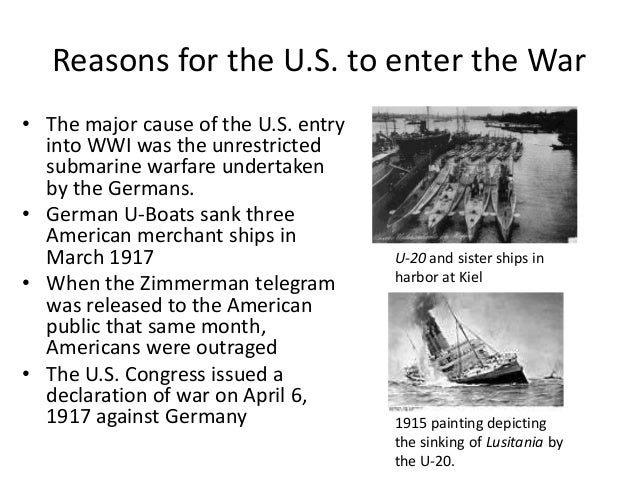 causes of us entry into ww1