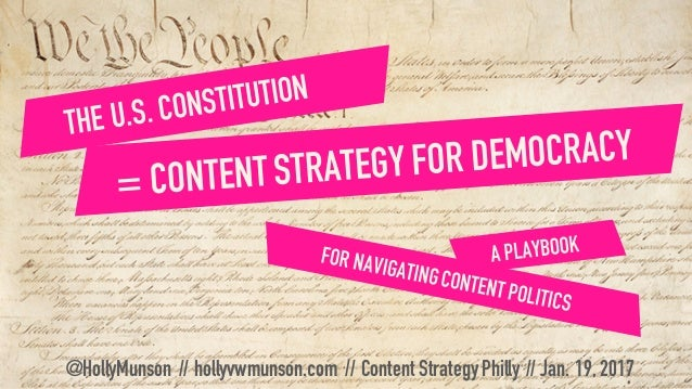 @HollyMunson // hollyvwmunson.com // Content StrategyPhilly // Jan. 19,2017