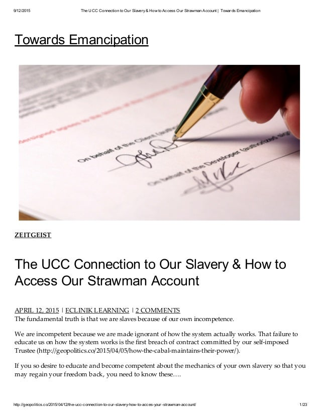 The UCC Connection to Slavery