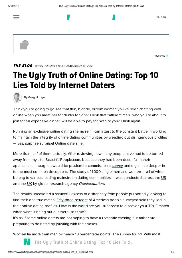 How to tell if someone is lying online dating