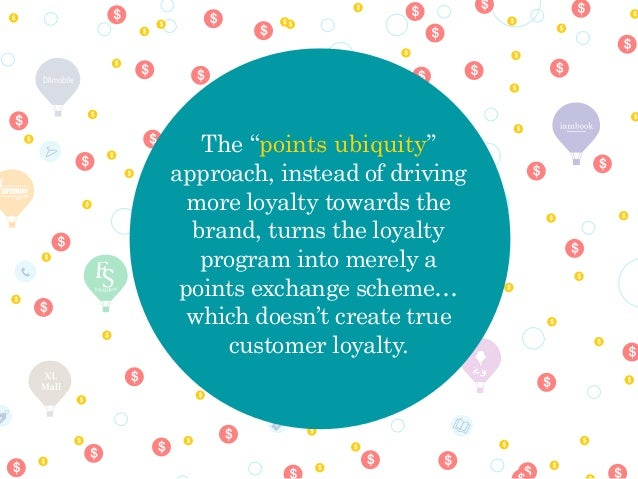 "icy The ""points ubiquity"" approach, instead of driving more loyalty towards the brand, turns the loyalty program into mere..."