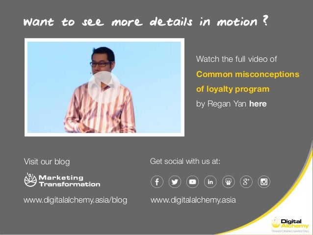 Want to see more details in motion Get social with us at: Watch the full video of Common misconceptions of loyalty program...