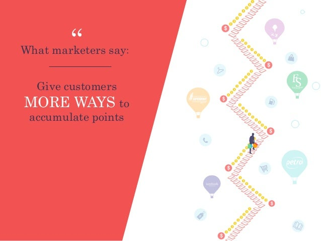 """Give customers MORE WAYS to accumulate points What marketers say: """" icy"""