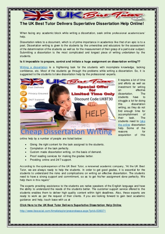 online dissertation help Advantages of our custom dissertation writing service if your goal is to hire an expert to help you complete a top-notch doctoral paper, then our website is the.