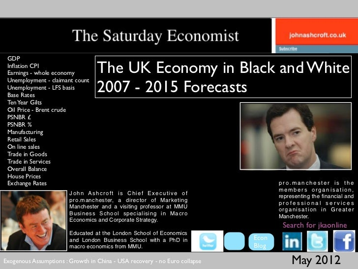 GDP Inflation CPI Earnings - whole economy         The UK Economy in Black and White Unemployment - claimant count Unemploy...