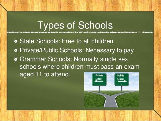 Types of schools in uk
