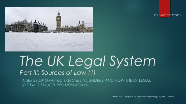 Jesús Lorenzo VieitesThe UK Legal SystemPart III: Sources of Law (1)A SERIES OF GRAPHIC SKETCHES TO UNDERSTAND HOW THE UK ...