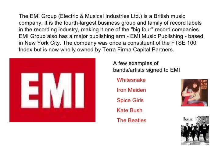 the uk's 4 major record labels