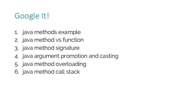 1. java methods example 2. java method vs function 3. java method signature 4. java argument promotion and casting 5. java...