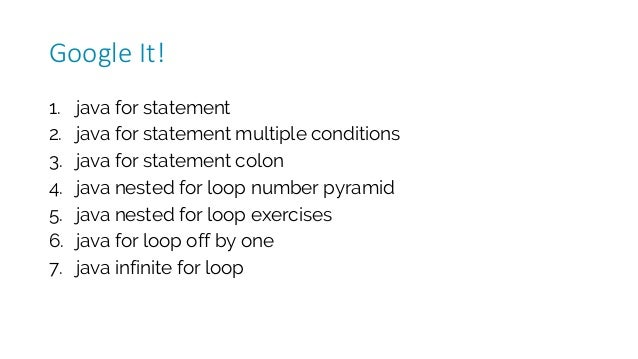 1. java for statement 2. java for statement multiple conditions 3. java for statement colon 4. java nested for loop number...