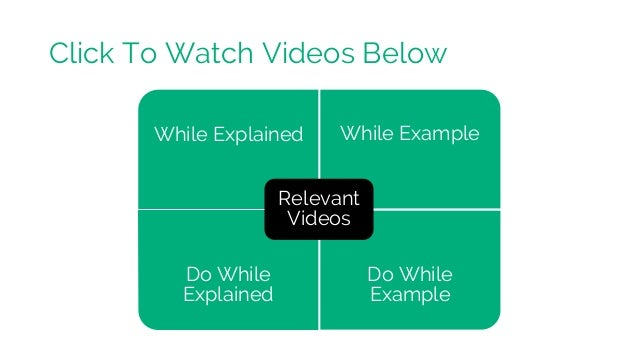 While Explained While Example Do While Explained Do While Example Relevant Videos Click To Watch Videos Below