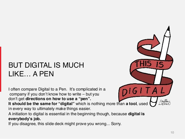 10! BUT DIGITAL IS MUCH LIKE… A PEN! I often compare Digital to a Pen. It's complicated in a! company if you don't know ho...