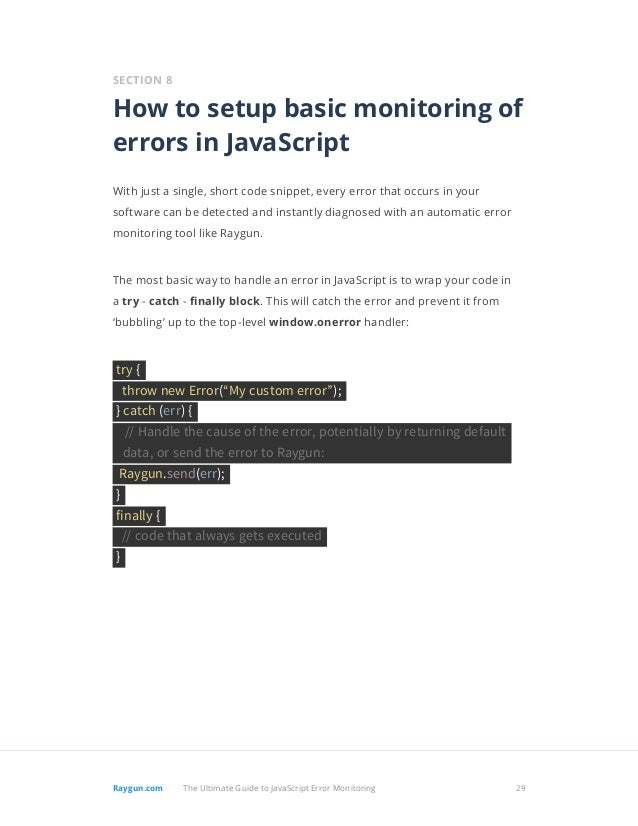 The Ultimate Guide To JavaScript Error Monitoring