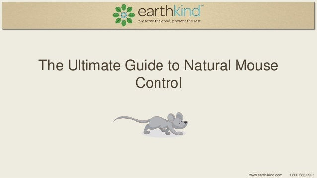 The Ultimate Guide to Natural Mouse Control  www.earth-kind.com  1.800.583.2921