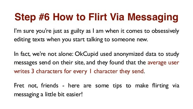 How to flirt via online dating