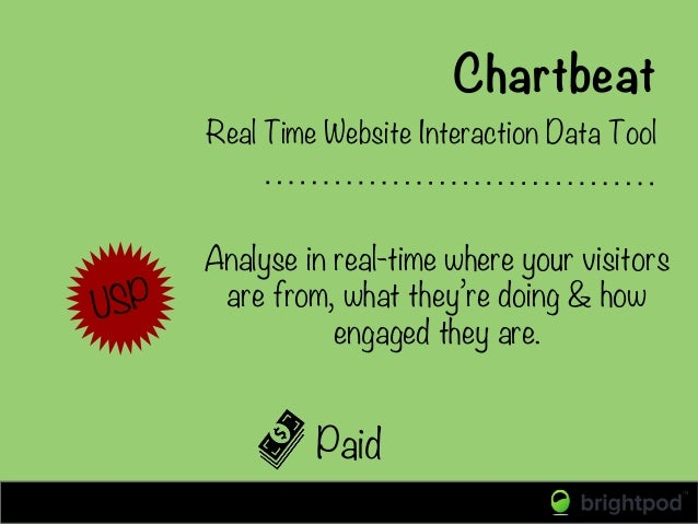 Paid Real Time Website Interaction Data Tool  Analyse in real-time where your visitors are from, what they're doing & how ...