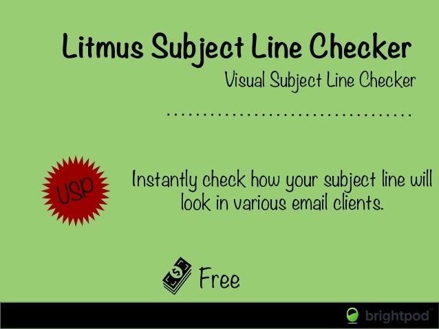 Litmus Subject Line Checker Free Visual Subject Line Checker USP  Instantly check how your subject line will look in vario...