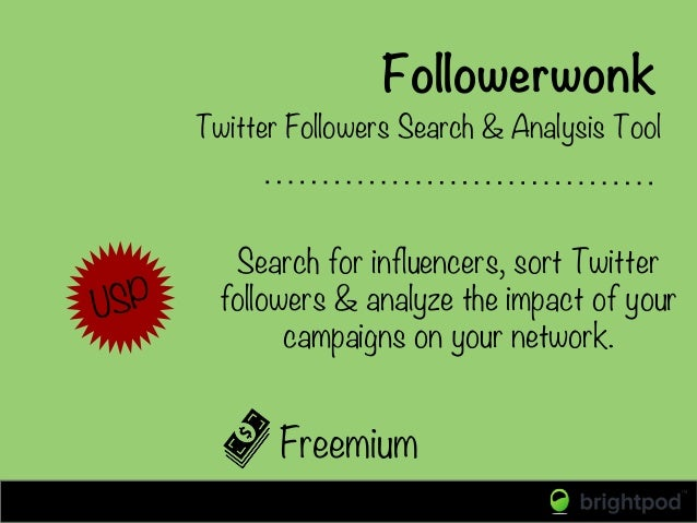 Followerwonk Freemium Twitter Followers Search & Analysis Tool Search for influencers, sort Twitter followers & analyze th...