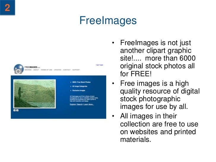 3    FreeFoto.com          • FreeFoto.com is            made up of 132232            images with 182            sections o...