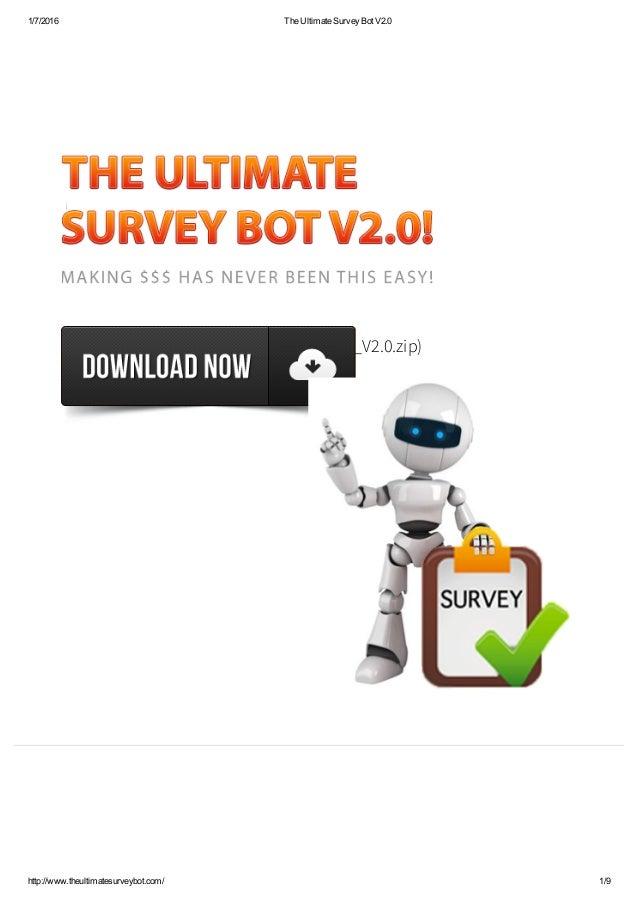 The ultimate survey bot v2