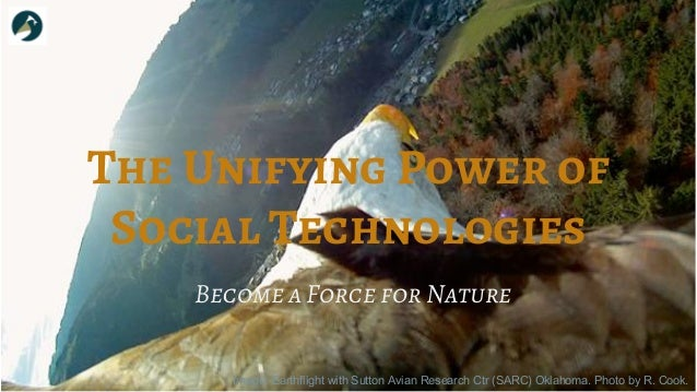 The Unifying Power of Social Technologies Image: Earthflight with Sutton Avian Research Ctr (SARC) Oklahoma. Photo by R. C...