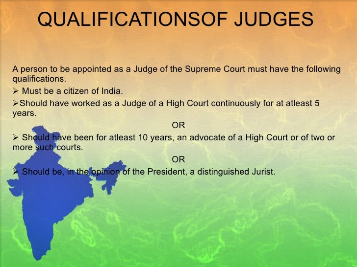 qualification for judge in india