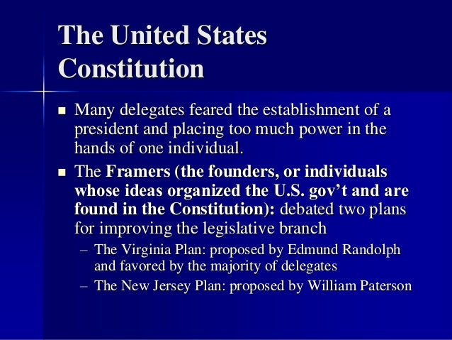 Chapter 5 And 6 The United States Constitution