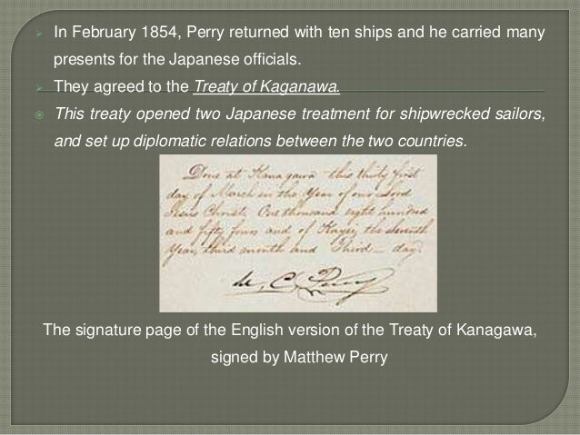 a history of the kanagawa treaty between the united states and japan Start studying ch 12 modern world history hhs  treaty of kanagawa an 1854 agreement between the united states and japan,.