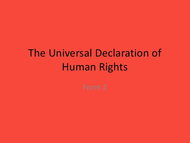 Deontology universal declaration of human rights