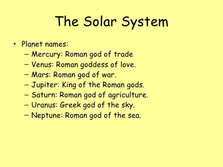 roman names of planets - photo #7