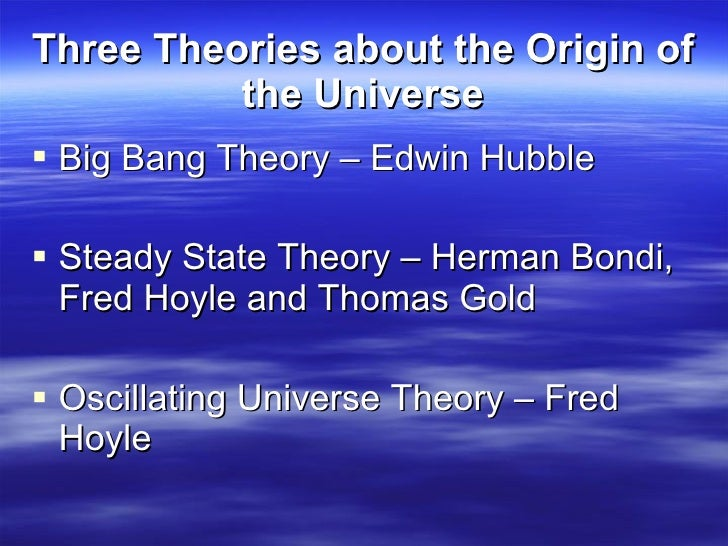 Fred hoyle and the big bang theory essay