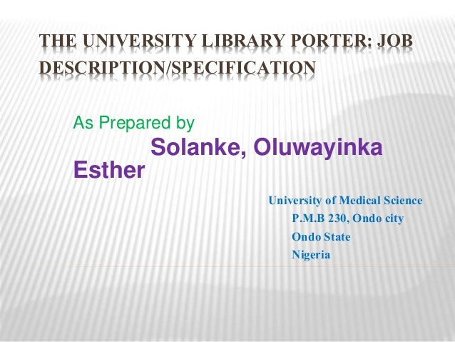 The University Library Porter