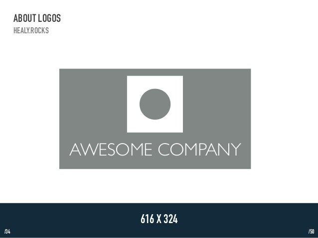 /34  ABOUT LOGOS  HEALY.ROCKS  AWESOME COMPANY  616 X 324  /50