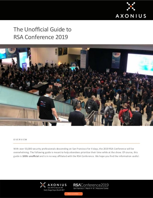 The Unofficial Guide to RSA Conference 2019