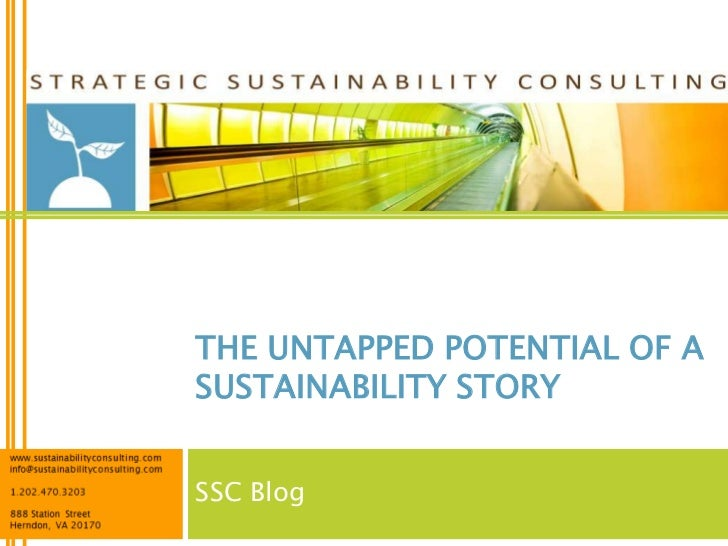 THE UNTAPPED POTENTIAL OF ASUSTAINABILITY STORYSSC Blog