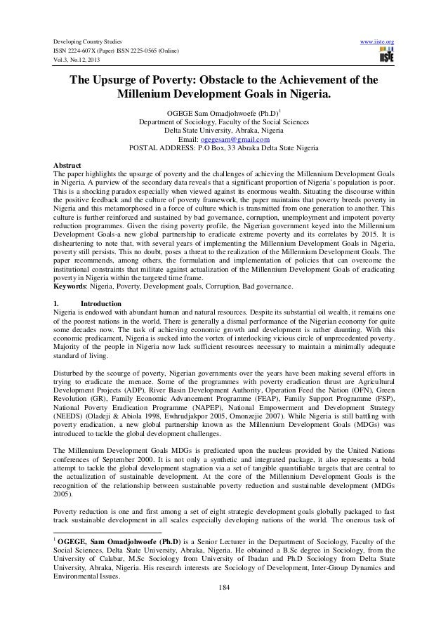 Developing Country Studies ISSN 2224-607X (Paper) ISSN 2225-0565 (Online) Vol.3, No.12, 2013  www.iiste.org  The Upsurge o...
