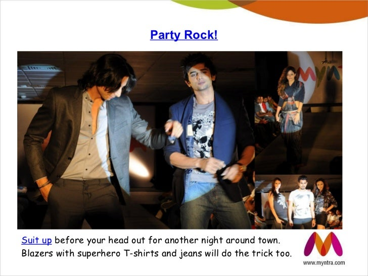 Party Rock!Suit up before your head out for another night around town.Blazers with superhero T-shirts and jeans will do th...