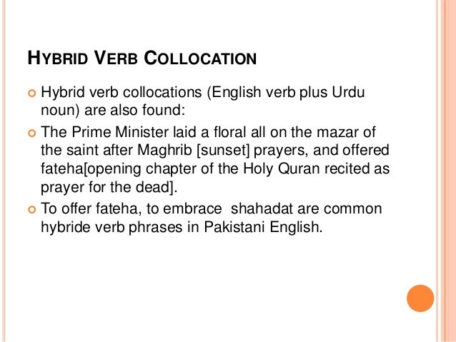 The Urduization of English in Pakistan