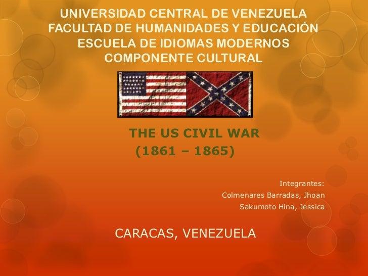 UNIVERSIDAD CENTRAL DE VENEZUELAFACULTAD DE HUMANIDADES Y EDUCACIÓN    ESCUELA DE IDIOMAS MODERNOS        COMPONENTE CULTU...