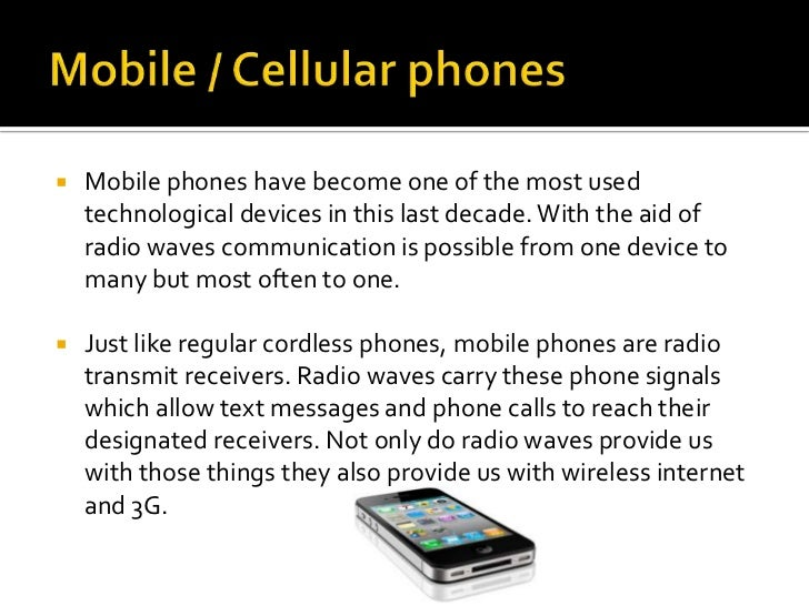 what waves do cell phones use