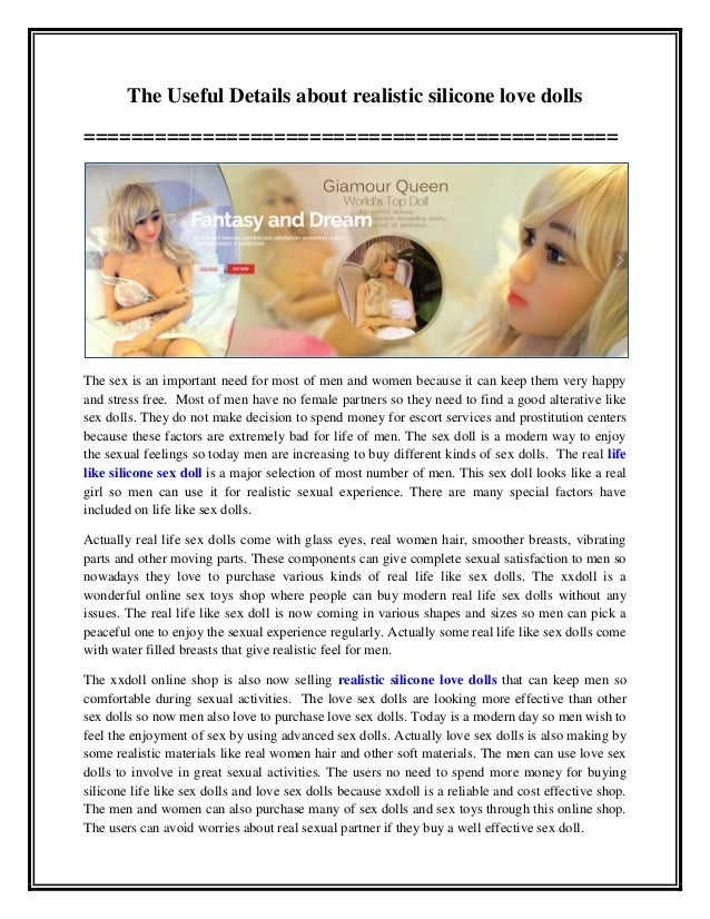The Useful Details about realistic silicone love dolls ============================================= The sex is an importa...