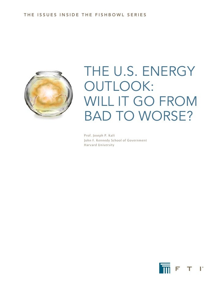 the issues iNsiDe the FishBOWL seRies                       THE U.S. ENERGY                   OUTLOOK:                   W...