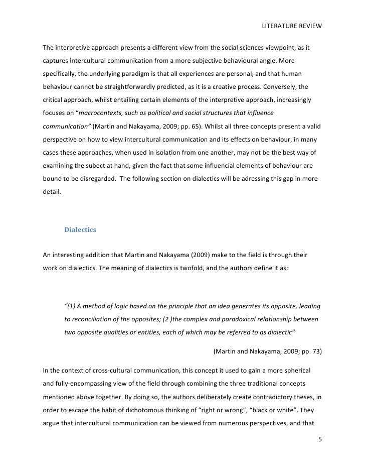 interpretive literature review