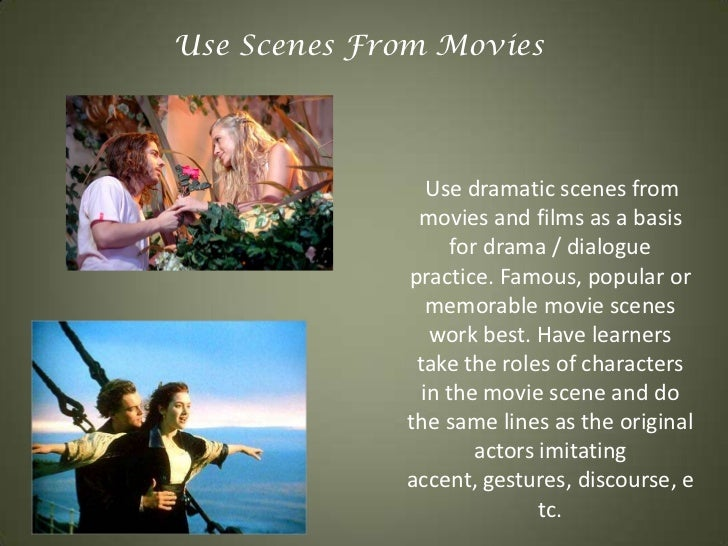use of drama in the classroom Why use drama / theatre texts in the language classroom the a type analytical approach to drama / theatre texts the b type experiential approach to drama / theatre texts.