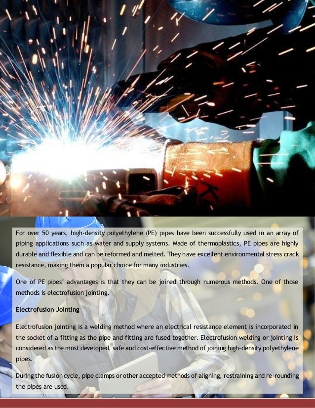 The Use of Electrofusion Welding in Joining High-Density Polyethylene…