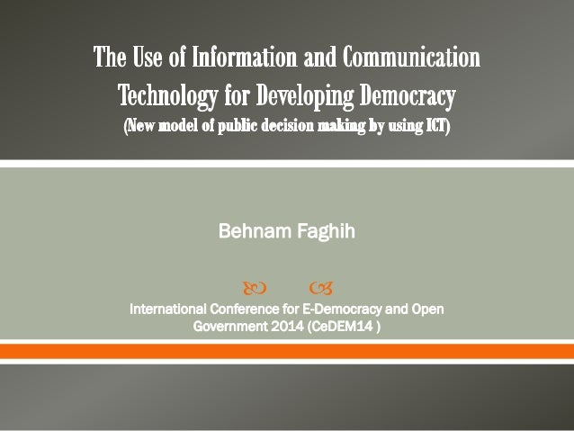   Behnam Faghih International Conference for E-Democracy and Open Government 2014 (CeDEM14 )