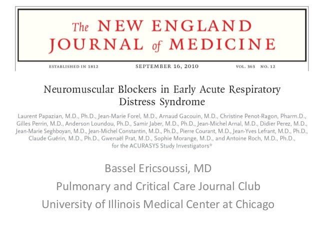 Bassel Ericsoussi, MD Pulmonary and Critical Care Journal Club University of Illinois Medical Center at Chicago
