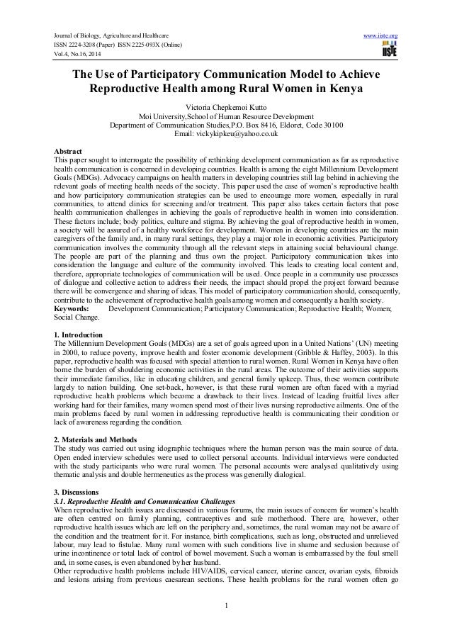 Journal of Biology, Agriculture and Healthcare www.iiste.org ISSN 2224-3208 (Paper) ISSN 2225-093X (Online) Vol.4, No.16, ...