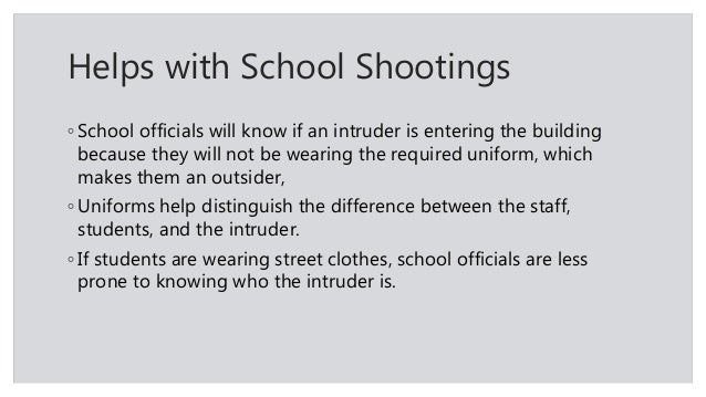 an introduction to the use of uniforms in schools School uniforms individuality is the aggregate of qualities and characteristics that distinguish one person or thing from others, as in monotonous towns lacking in .